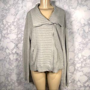 NY&Co XXL Zip Up Sweater Gray